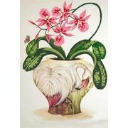"""Канва/ткань с нанесенным рисунком Конёк """"Цветы и птицы 3"""""""