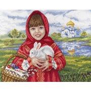 """Набор для вышивания крестом М.П. Студия """"Пасхальный кролик"""""""