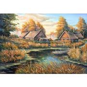 """Набор для вышивания крестом Матрёнин посад """"Осень в деревне"""""""