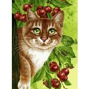 """Набор для раскрашивания Белоснежка """"Кот на вишневом дереве"""""""