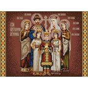 """Канва/ткань с нанесенным рисунком Конёк """"Царская семья"""""""