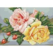 """Набор для выкладывания мозаики Паутинка """"Трио чайных роз"""""""