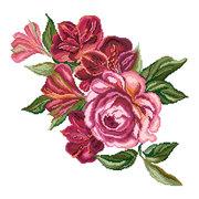 """Канва/ткань с нанесенным рисунком Матрёнин посад """"Цветочная симфония"""""""