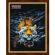 """Набор для выкладывания мозаики Алмазная живопись """"Плывущий тигр"""""""