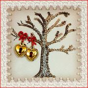 """Набор для вышивания хрустальными бусинами Образа в каменьях """"Дерево любви"""""""