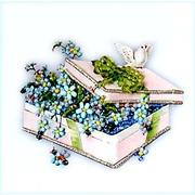 """Набор для вышивания хрустальными бусинами Образа в каменьях """"Шкатулка"""""""
