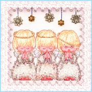 """Набор для вышивания хрустальными бусинами Образа в каменьях """"Ангелочки"""""""