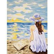 "Канва/ткань с нанесенным рисунком Gobelin-L ""Мечты у моря"""