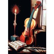 """Канва/ткань с нанесенным рисунком Gobelin-L """"Ночное вдохновение"""""""