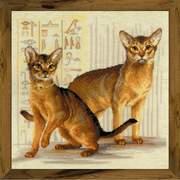 """Набор для вышивания крестом Риолис """"Абиссинские кошки"""""""