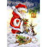 "Канва/ткань с нанесенным рисунком Матрёнин посад ""Юный Санта"""