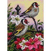 """Набор для выкладывания мозаики Вышиваем бисером """"Птицы на цветах"""""""