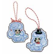 """Набор для вышивания крестом Риолис Новогодние игрушки """"Собачки"""""""