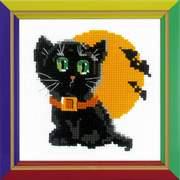 """Набор для вышивания крестом Риолис """"Черный кот"""""""