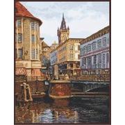 """Набор для вышивания крестом Палитра """"Лавочный мост. Старый Кёнигсберг"""""""
