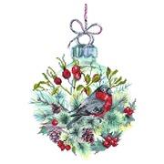"""Канва/ткань с нанесенным рисунком Матрёнин посад """"Рождественский шар"""""""