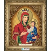 """Канва/ткань с нанесенным рисунком МОСФА """"Икона Иверская Богородица"""""""