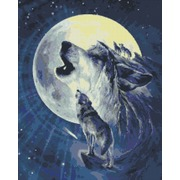 """Набор для выкладывания мозаики Паутинка """"Лунный волки"""""""