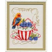 """Набор для вышивания крестом Золотое Руно """"Вкусняшки для пташки"""""""