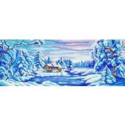 "Канва/ткань с нанесенным рисунком Конёк ""Зима искристая"""