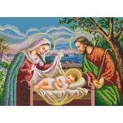"""Канва/ткань с нанесенным рисунком Конёк """"Святое семейство"""""""