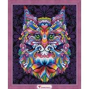 """Набор для выкладывания мозаики Алмазная живопись """"Мистический кот"""""""
