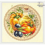 """Набор для вышивания крестом Чудесная игла """"Средиземноморский салат"""""""