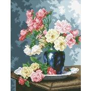 """Набор для выкладывания мозаики Паутинка """"Ваза с садовыми розами"""""""
