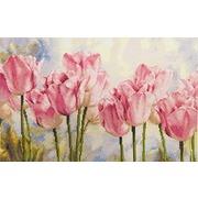 """Набор для вышивания крестом Алиса """"Розовые тюльпаны"""""""