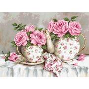 """Гобелен Luca-S """"Утренний чай и розы"""""""