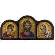 """Набор для вышивания бисером Nova sloboda """"Триптих Богородица, Спаситель, Николай Чудотворец"""""""