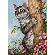 """Набор для выкладывания мозаики Вышиваем бисером """"Хитрый кот"""""""