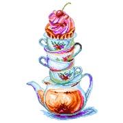 """Канва/ткань с нанесенным рисунком Матрёнин посад """"Время чая"""""""