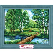 """Набор для выкладывания мозаики Алмазная живопись """"Березы у реки"""""""