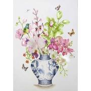 """Канва/ткань с нанесенным рисунком Конёк """"Букет из орхидей"""""""