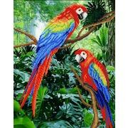 """Канва/ткань с нанесенным рисунком М.П. Студия """"Жители джунглей"""""""