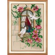 """Набор для вышивания крестом Овен """"На крыльях любви"""""""