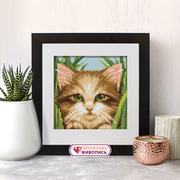 """Набор для выкладывания мозаики Алмазная живопись """"Зеленоглазый котенок"""""""