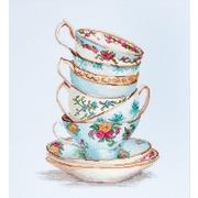"""Набор для вышивания крестом Luca-S """"Бирюзовые чайные чашки"""""""