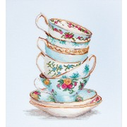 """Набор для вышивания крестом Luca-S """"Бирюзовый чайные чашки"""""""