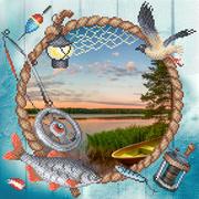 """Канва/ткань с нанесенным рисунком М.П. Студия """"Сезон рыбалки"""""""