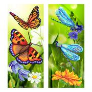 """Канва/ткань с нанесенным рисунком М.П. Студия """"Райские бабочки"""""""