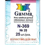 """Аксессуары Gamma Иглы для шитья ручные """"Gamma"""" гобеленовые №28"""
