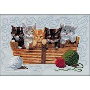 """Набор для вышивания крестом Nitex """"Котята"""""""