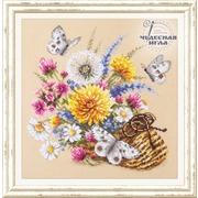 """Набор для вышивания крестом Чудесная игла """"Луговые цветы"""""""