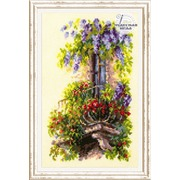 """Набор для вышивания крестом Чудесная игла """"Балкон возлюбленной"""""""