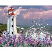 """Канва/ткань с нанесенным рисунком М.П. Студия """"Романтичный маяк"""""""