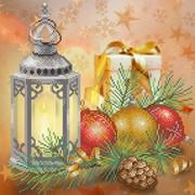 """Канва/ткань с нанесенным рисунком М.П. Студия """"С Новым годом!"""""""