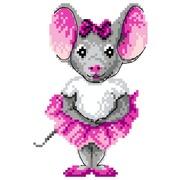 "Канва/ткань с нанесенным рисунком Матрёнин посад ""Мышка-балерина"""