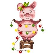 """Канва/ткань с нанесенным рисунком Матрёнин посад """"Свинка"""""""
